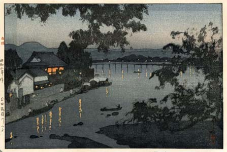 Yoshida: Evening on the Chikugo river