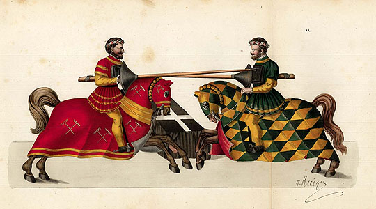 Reibisch: Two knights on horseback
