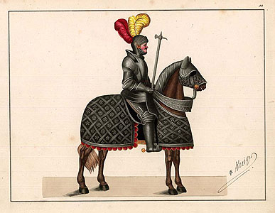 Reibisch: Knight on horseback
