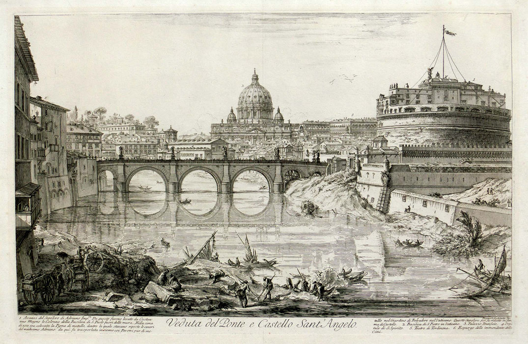 Piranesi: Castel S. Angelo and bridge