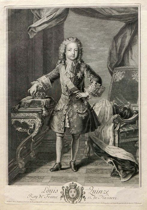 Audran: Louis XV of France