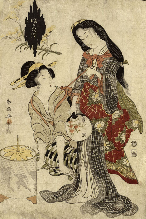 Shunsen: Two beauties from Yoshiwara