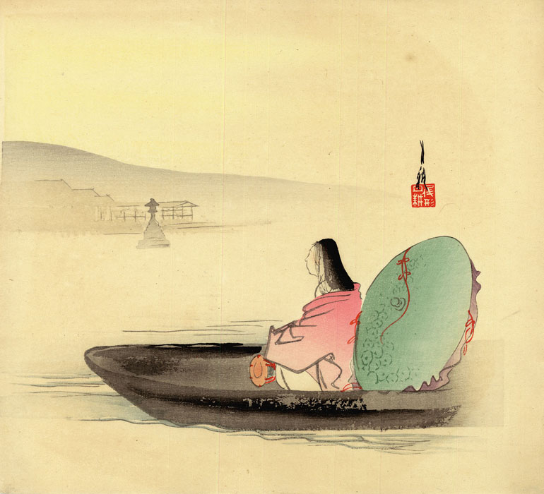 Gekkô: Beautiful Lady in a boat
