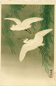 Koson: Flying herons