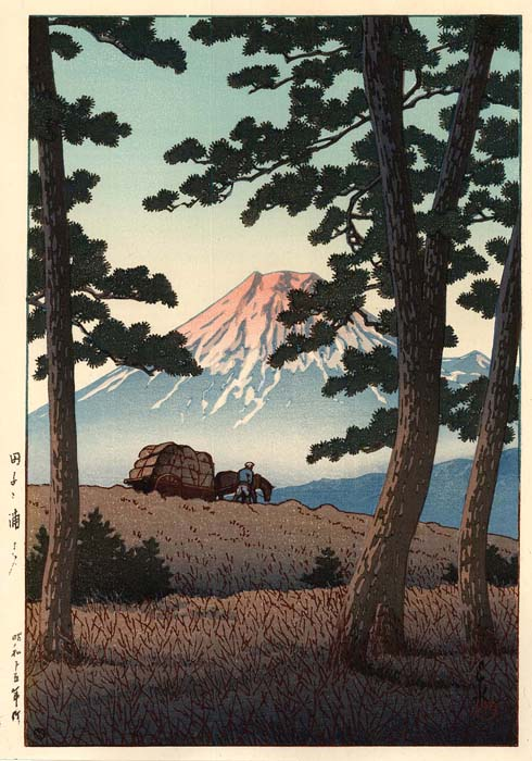 Hasui: Evening at Tagonoura