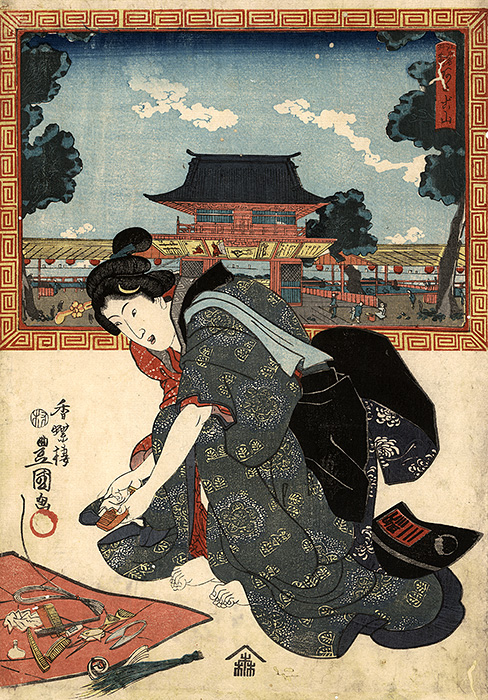 Kunisada - A young beauty
