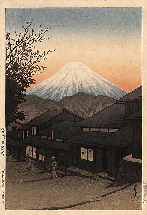 Hasui - Snow-covered Mount Fuji