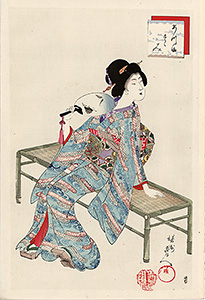 Chikanobu - Cooling oneself