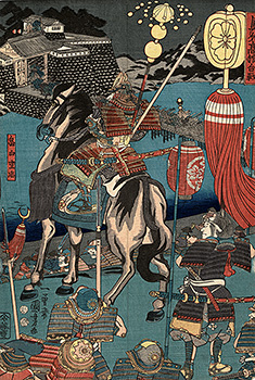 Kuniyoshi - The battle of Takadachi