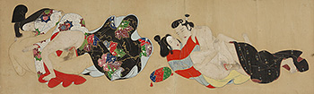 Shunga painting - Two couples in love