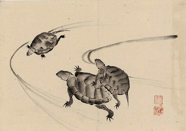 Kyôsai - Three turtles