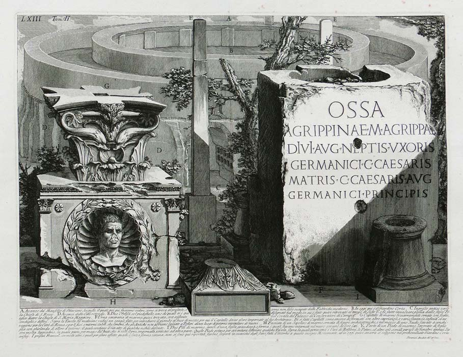 Piranesi - Antichitá Romane -  Augustus Mausoleum