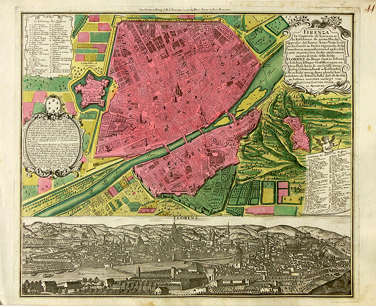 Florence - Town plan and view