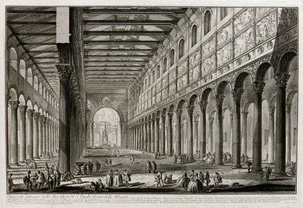 Piranesi: Rome – Inside of the Basilica of Saint Paul