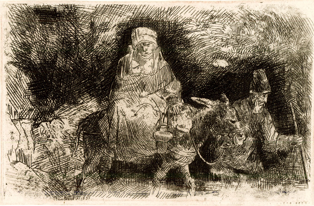 Rembrandt: Flight into Egypt
