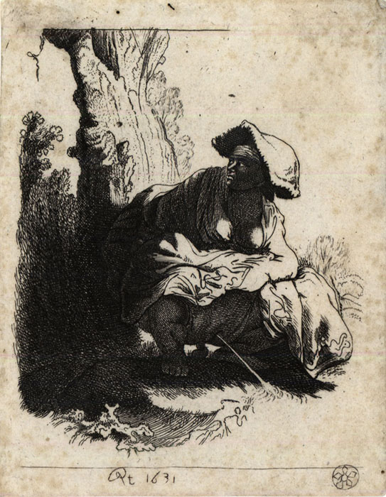 A woman making water